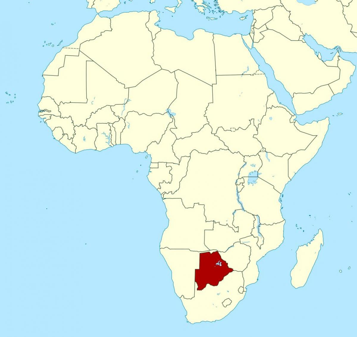 Botswana A World Map Terkep Botswana A Vilag Del Afrika Afrika